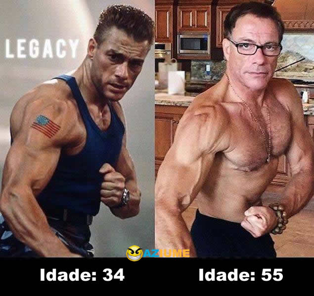 Antes e Depois - Van Damme