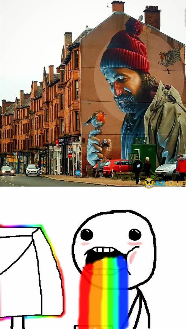 Impressionante arte de rua