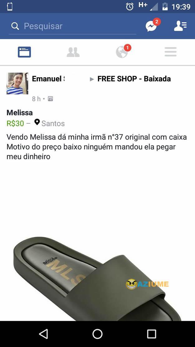 Bom motivo para vender uma Melissa