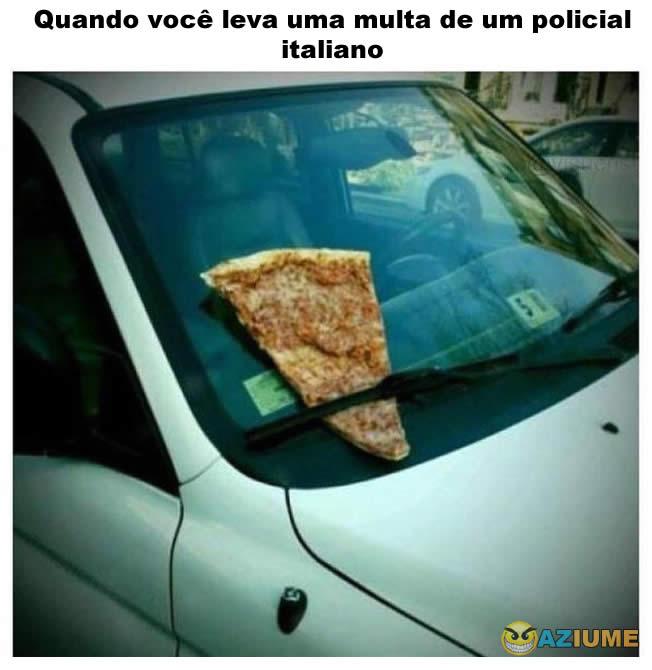 Quando você leva uma multa de um policial italiano