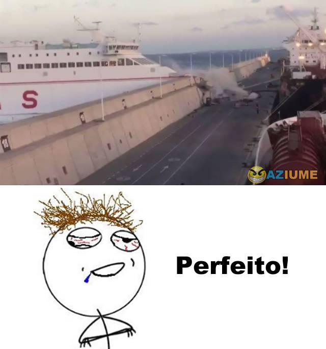 Estacionando um navio perfeitamente