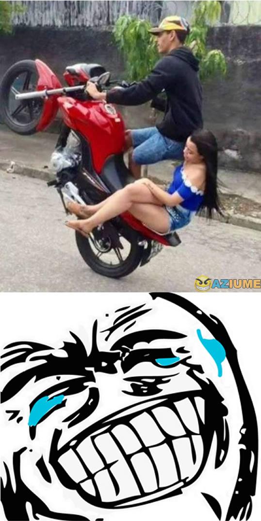 Quando vejo alguém empinando moto
