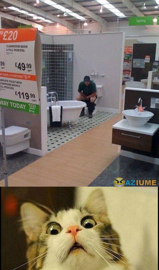 Quando você não tem tempo para chegar no banheiro de casa