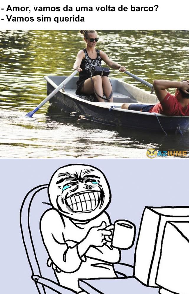 Amor, vamos da uma volta de barco