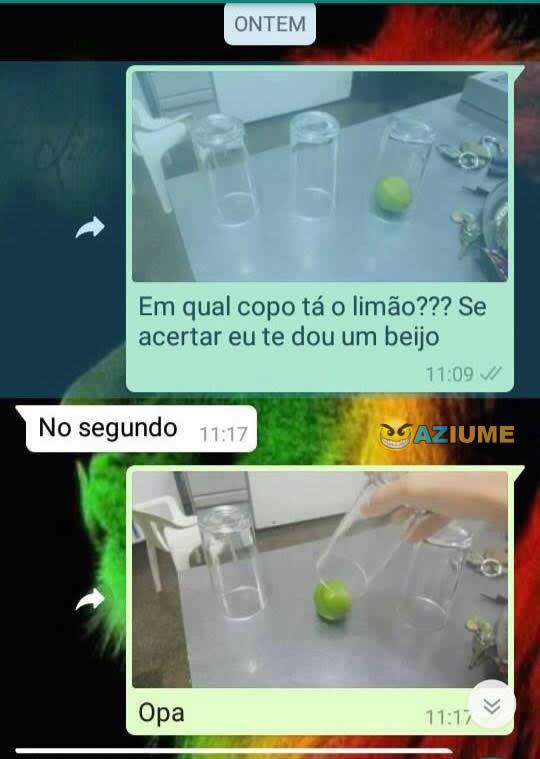 Qual o copo tá o limão???