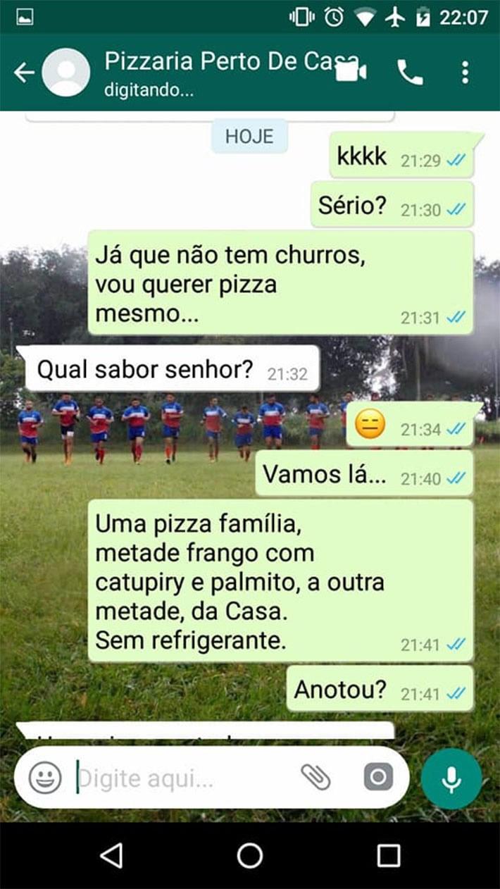 Pedir uma pizza nunca foi tão difícil