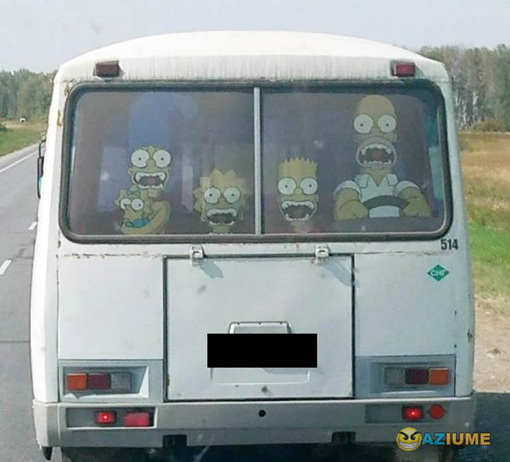 Adesivo de janela traseira para fã de Simpson