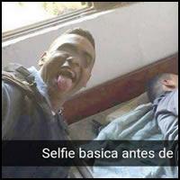 Selfie com o meliante