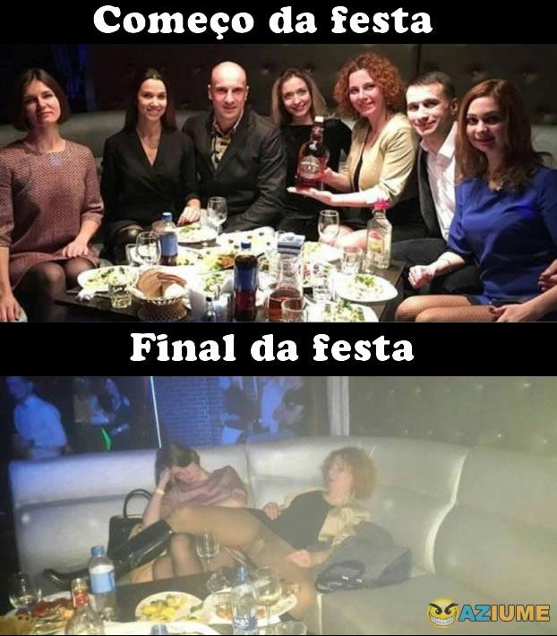 Começo e final da festa