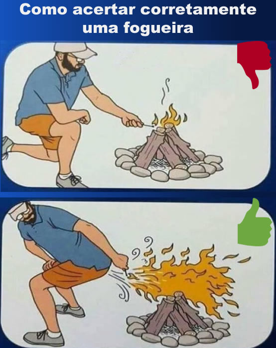 Como acertar corretamente uma fogueira