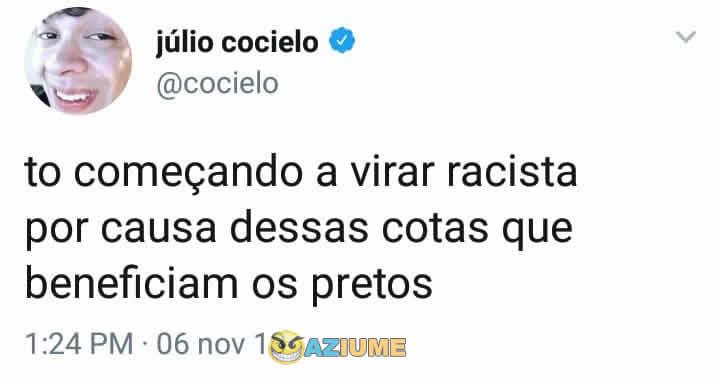 Não existe racismo, treta com Cocielo