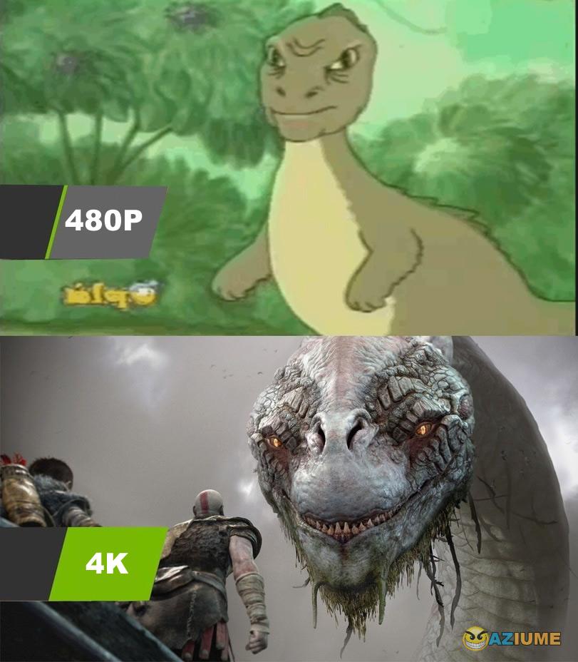 A grande diferença de 480P para 4K