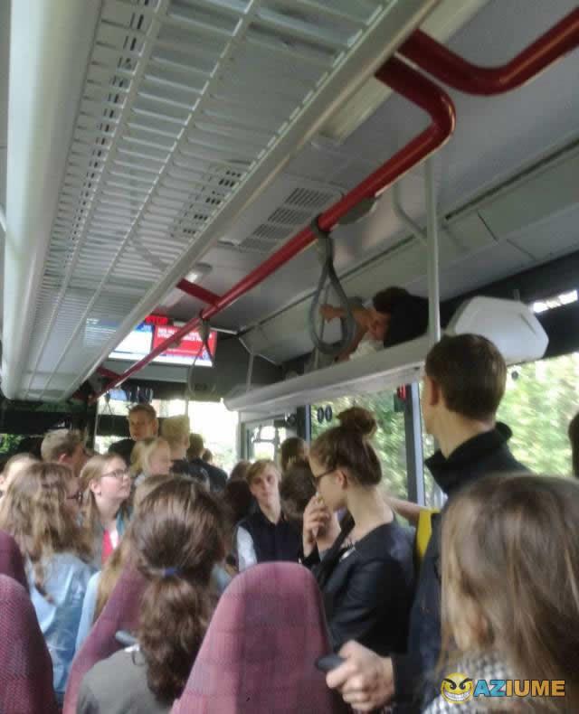 Um dia normal no ônibus