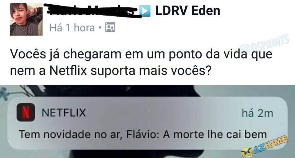 Aquela indireta da Netflix