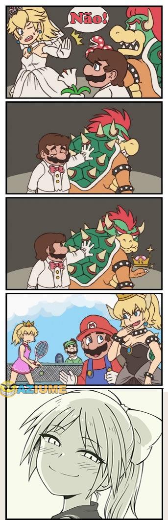 Quando a princesa rejeitou o Mario