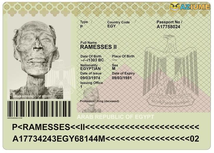 Múmia ganhou um passaporte para ir para Paris