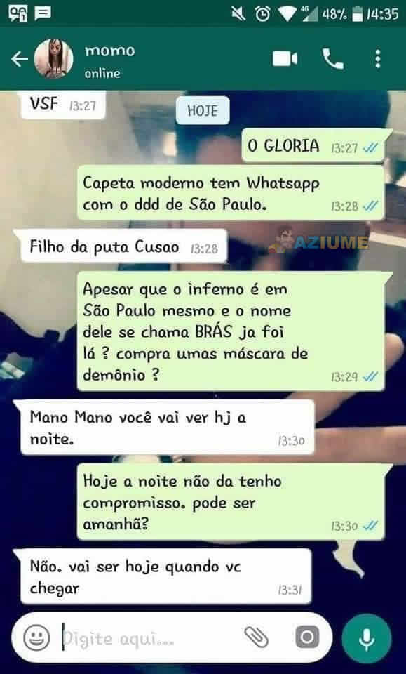 Conversa com Momo no Whatsapp