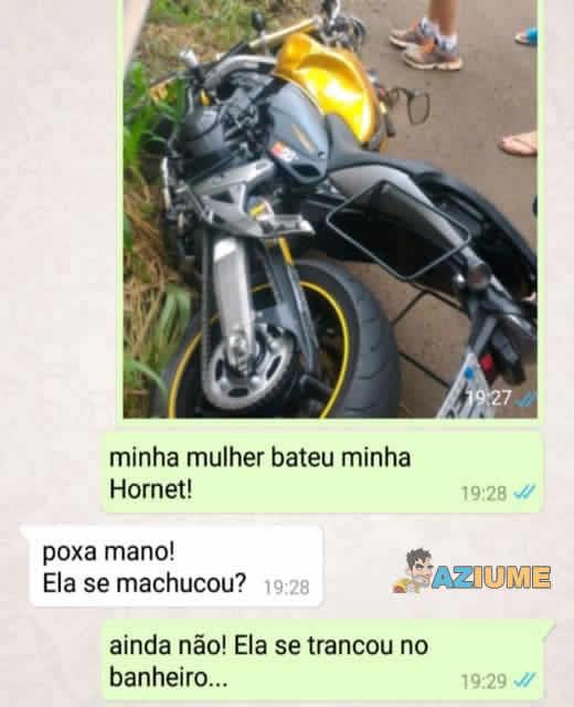 Quando a mulher bate a moto