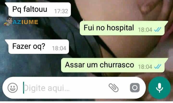 O que você faz no hospital?