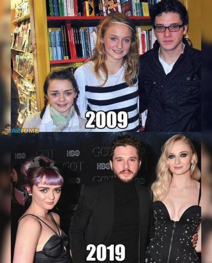 Como o tempo passa: Game of Thrones