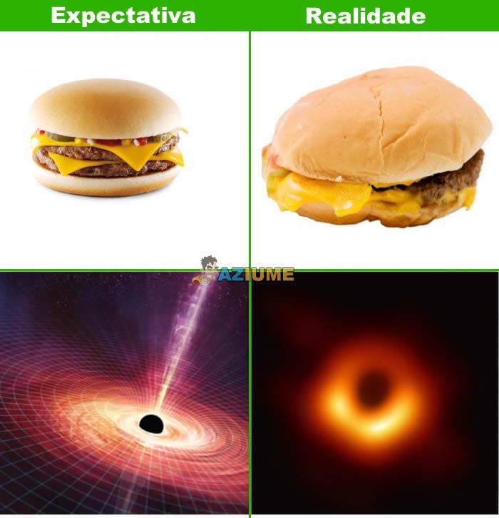 Expectativa vs Realidade: Buraco negro