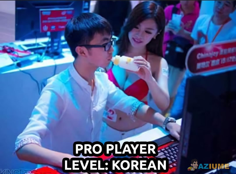 Gamer level Korean