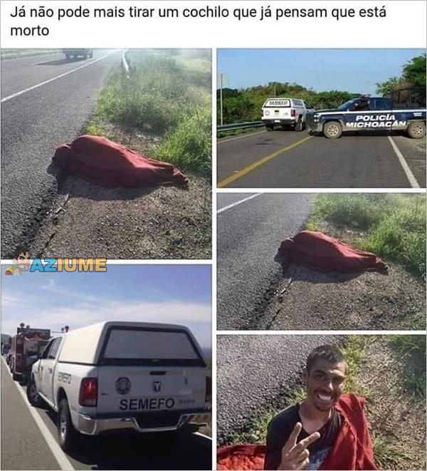 Como não tirar uma soneca na rua