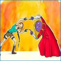 26 personagens de desenhos animados fazendo fusão