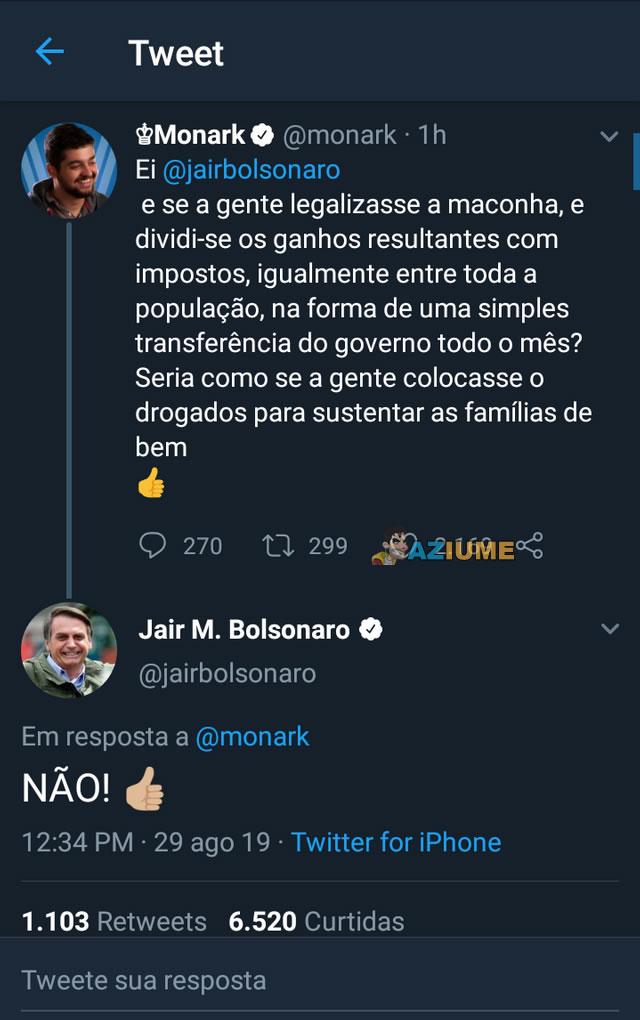 A teoria de Monark e a resposta de Bolsonaro.