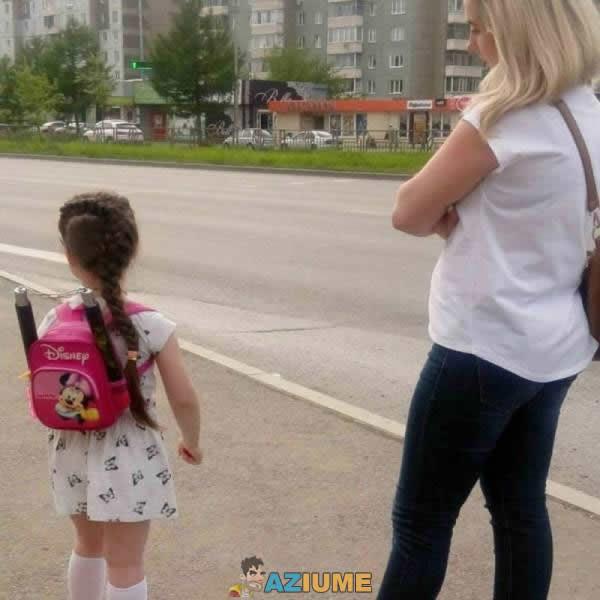 Primeiro dia de aula de uma criança