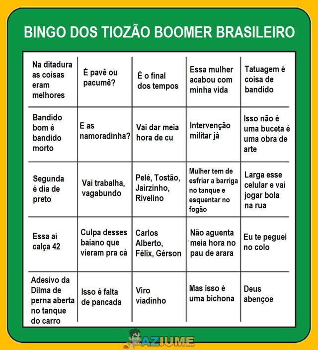 Bingo dos tiozão Boomer brasileiro
