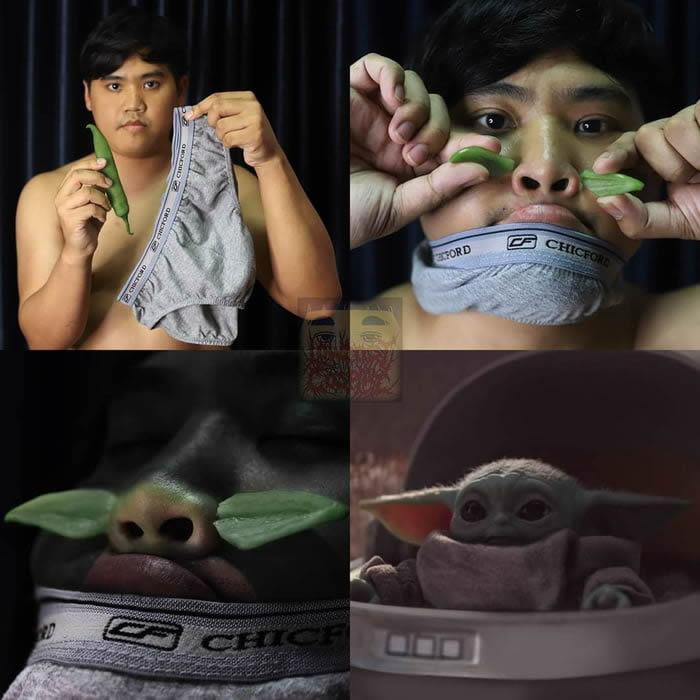 Cospobre da vez: Bebê Yoda
