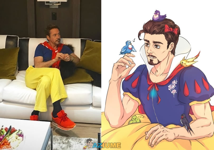 Branca de neves com Robert Downey Jr
