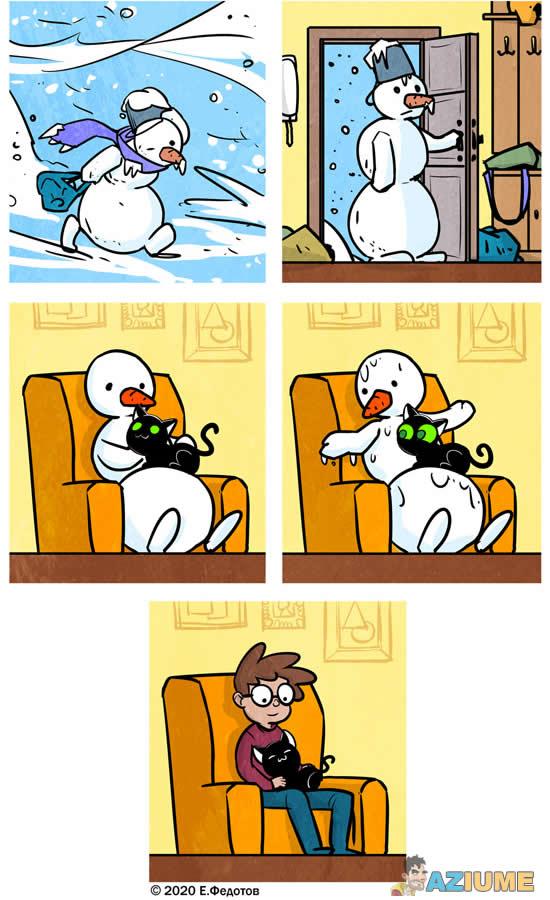 Tirinha boneco de neve