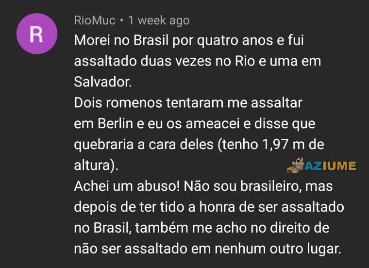 A honra de ser assaltado no Brasil