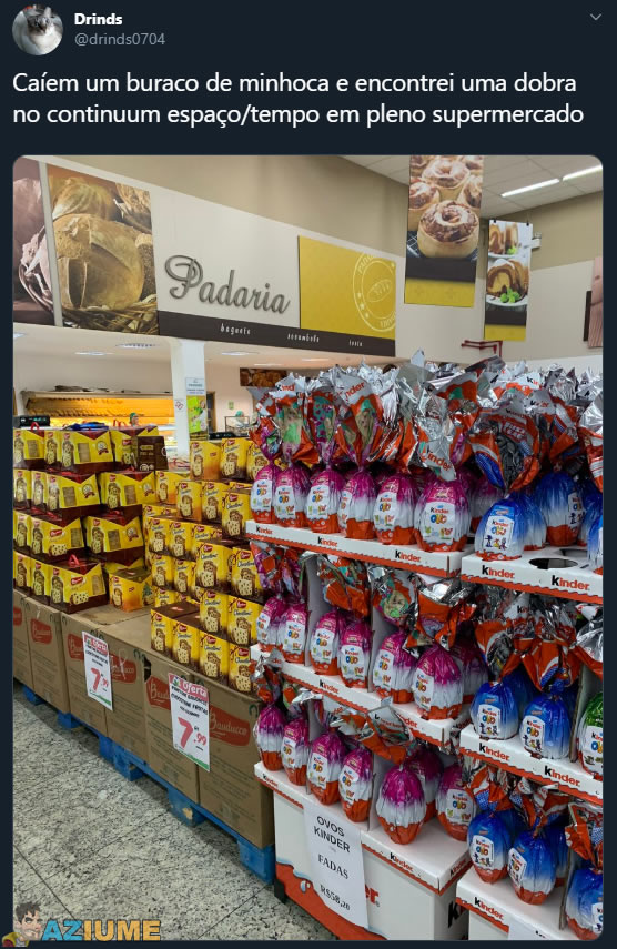Chocotone e ovo de Páscoa juntos no mercado em pleno fevereiro?