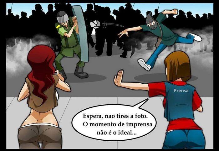 Vai vendo, essa é a imprensa no Brasil