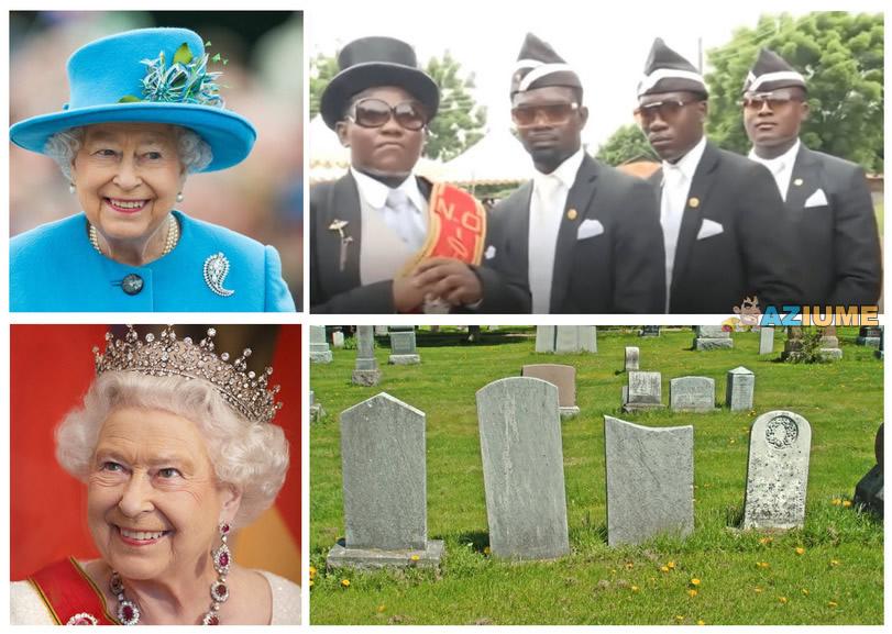 Rainha Elizabeth II vs Meme do caixão