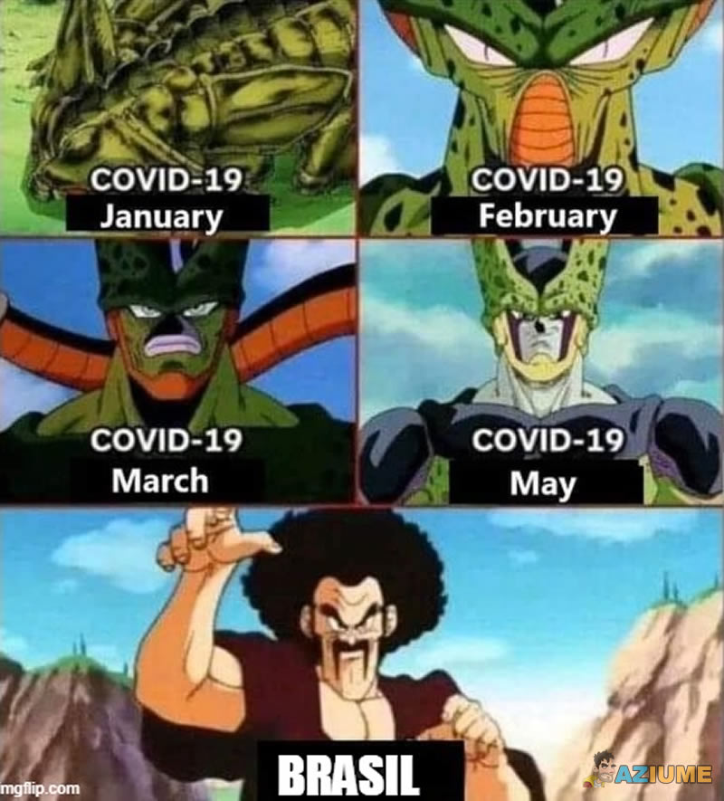 Analogia Dragon Ball do Covid-19