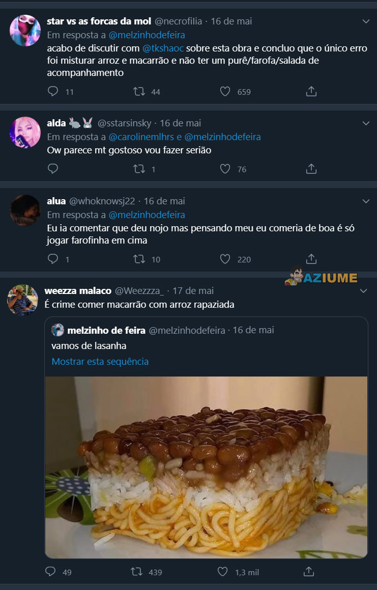 E essa lasanha 100% brasileira?
