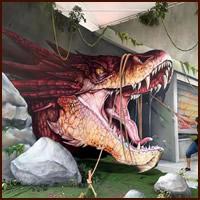 Artista de rua francês pinta grafite de criatura 3D