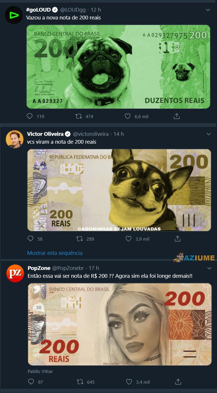 Qual você quer ver na nota de 200 reais?