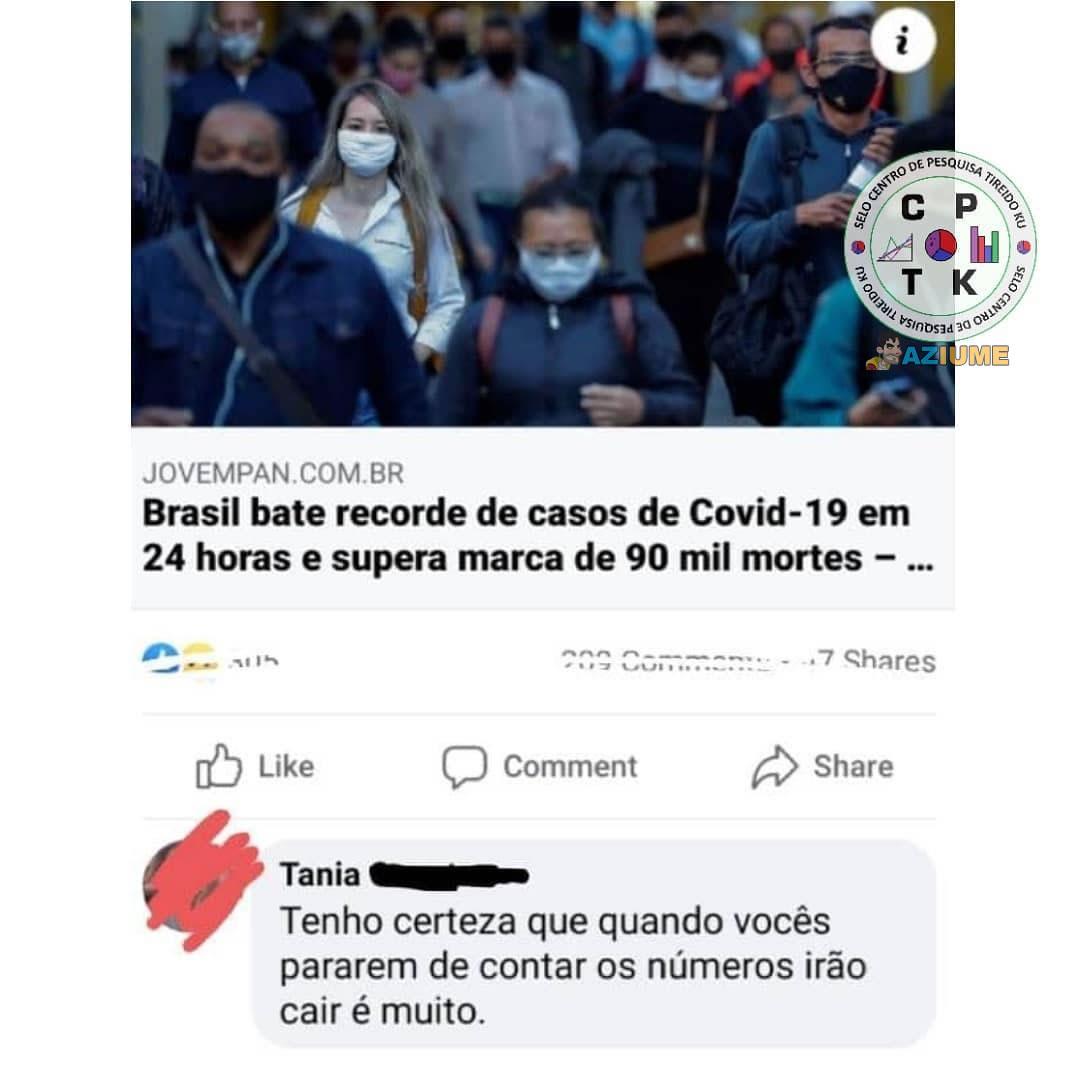 Brasil bate recorde de casos de Covid-19