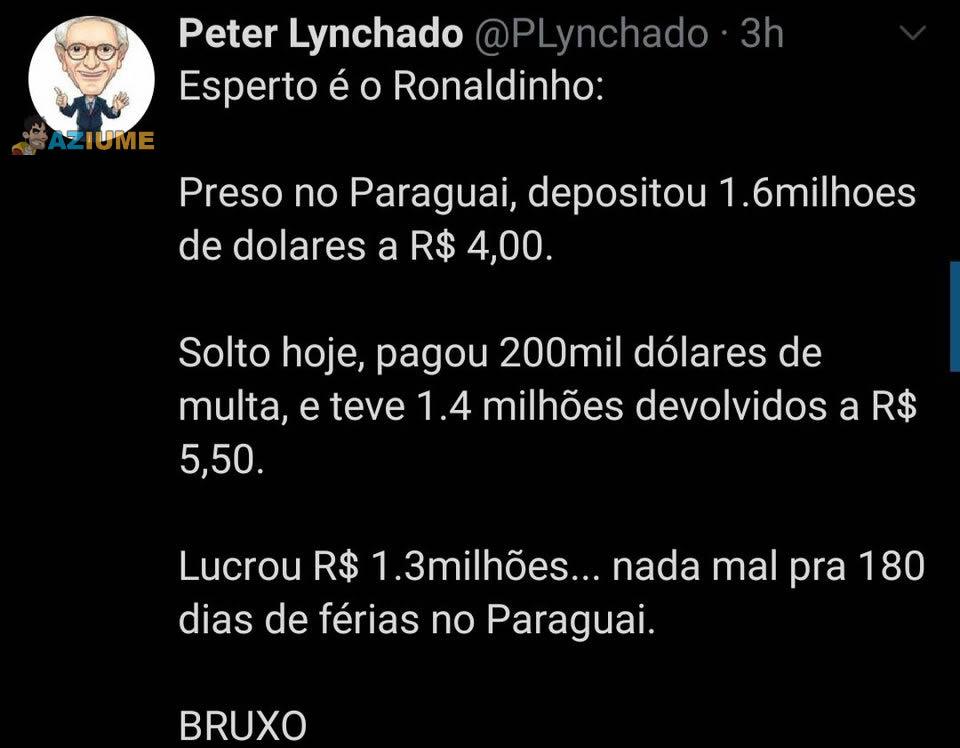 Observem o Ronaldinho Gaúcho e aprendam a investir