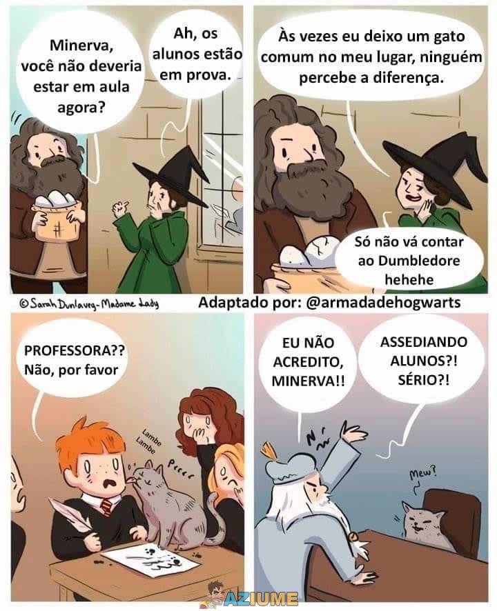 Enquanto isso em Hogwarts