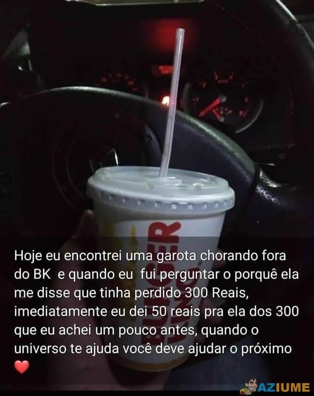 A generosidade do brasileiro emociona