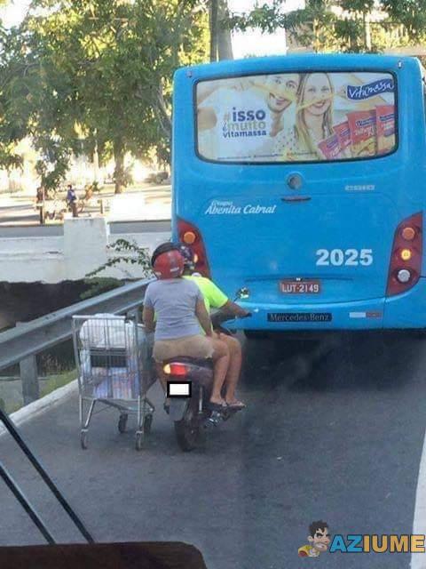Roubaram o carrinho do supermercado