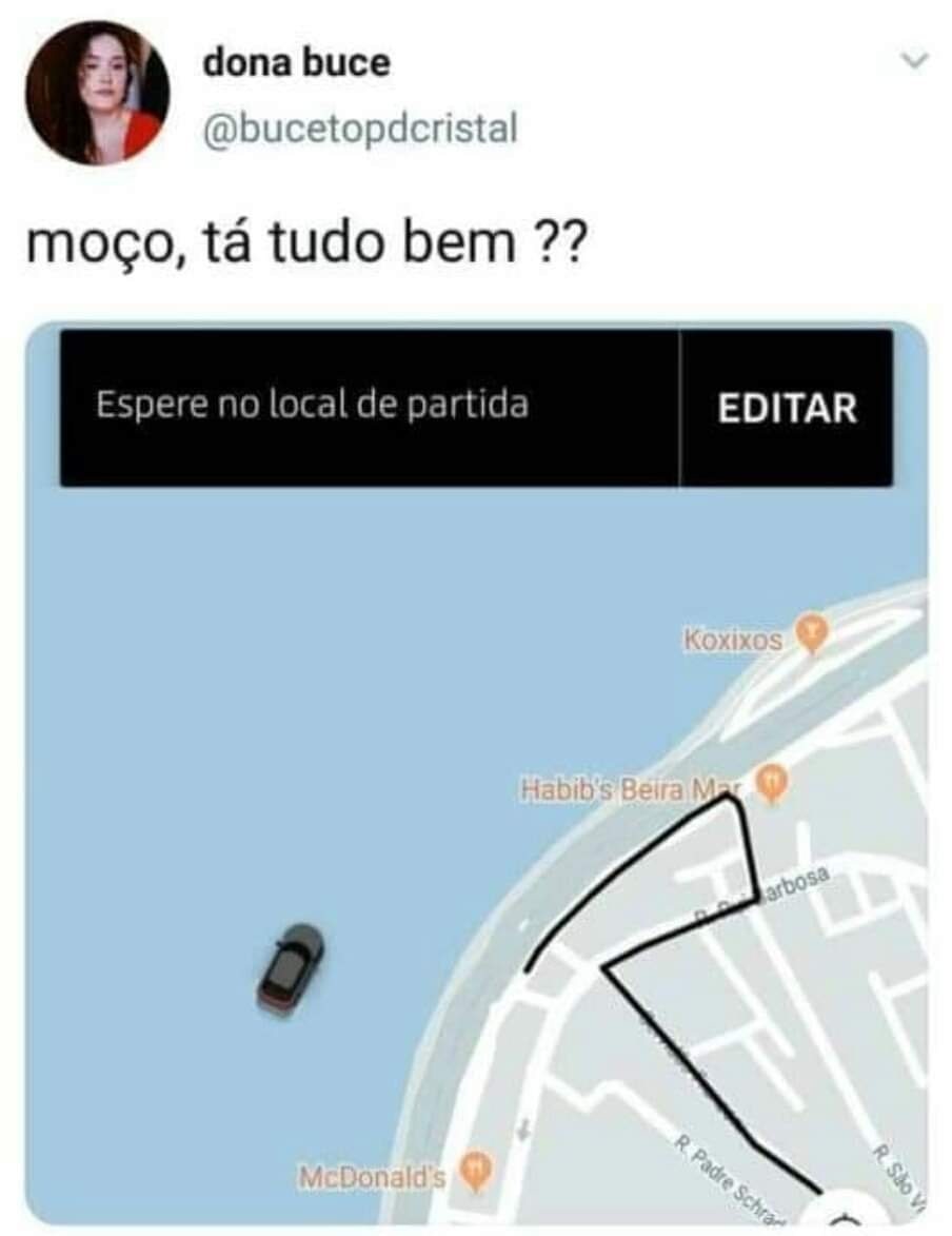 Diálogos entre passageiros e motoristas de Uber