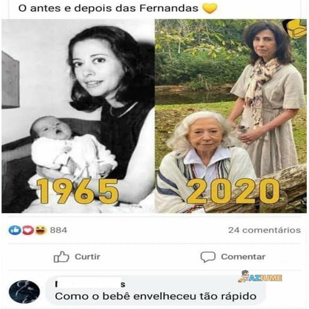 Antes e depois da Fernanda