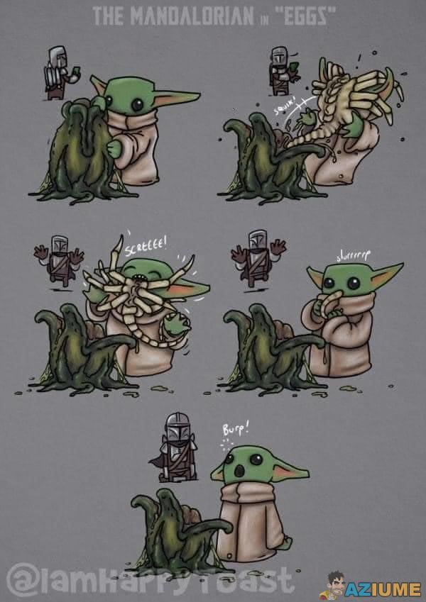 Enquanto isso o Baby Yoda